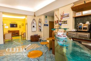 A restaurant or other place to eat at Hotel Clelia