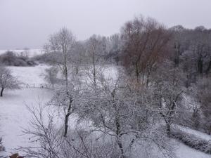 L'établissement Gîte De Charme : L'Ancienne Grange en hiver