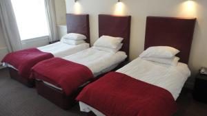 A bed or beds in a room at Sandyford Hotel