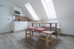 Küche/Küchenzeile in der Unterkunft Anitas Altstadtpension