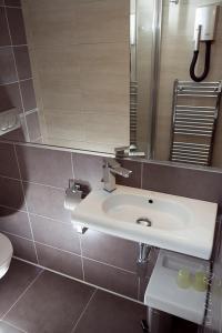 Koupelna v ubytování Penzion Jople