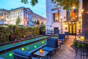 A pool table at W Washington D.C.