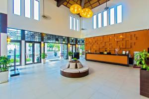 De lobby of receptie bij Hoi An Beach Resort