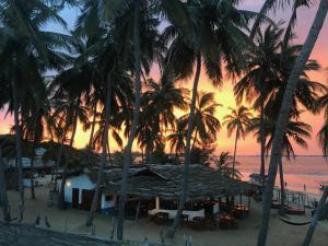 Solopgangen eller solnedgangen set fra hotellet