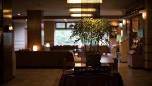 The lobby or reception area at Hotel Shirakawa Yunokura