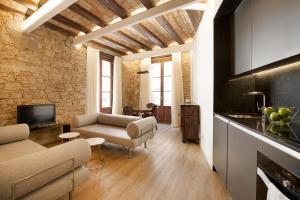 Zona de estar de Decô Apartments Barcelona-Born Apt.