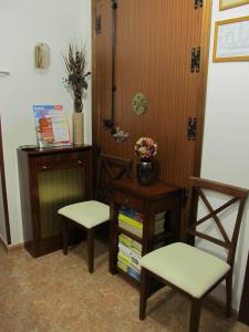 A seating area at Hostal Las Torres