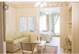 A seating area at Apartamento Il Campanario