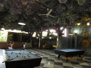 A billiards table at Hotel 01 Batam