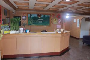 The lobby or reception area at Wankou Hotel