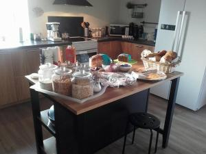Køkken eller tekøkken på Bed and Breakfast Lemvig