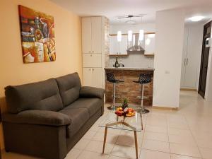 Zona de estar de Apartment near the beach in Las Americas