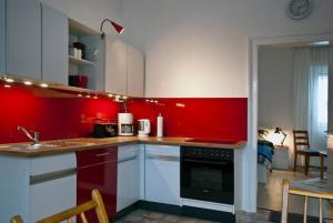 Küche/Küchenzeile in der Unterkunft Sieben Linden