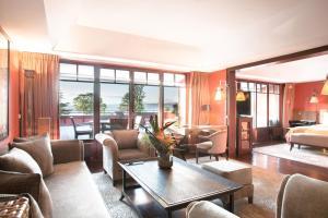 Zona de estar de La Réserve Genève Hotel & Spa