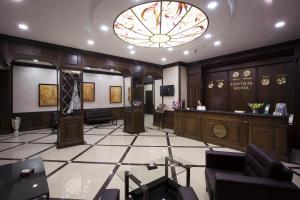 The lobby or reception area at Central Hotel