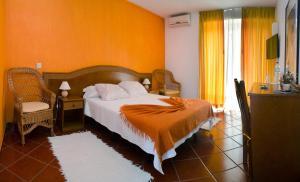 Cama o camas de una habitación en Solar dos Marcos Rural Accommodation