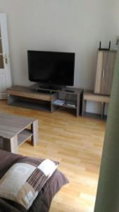 TV a/nebo společenská místnost v ubytování Apartmány Perla