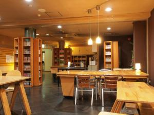 A restaurant or other place to eat at Tsukuba Daily Inn