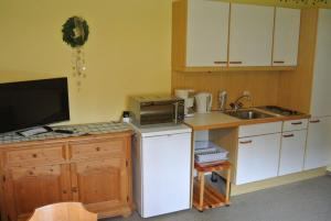 A kitchen or kitchenette at Apartment Rosner