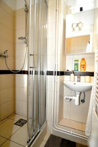 Koupelna v ubytování Apartments Ostrava Vítkovice
