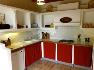 A kitchen or kitchenette at Gite CAP de BOUÉOU