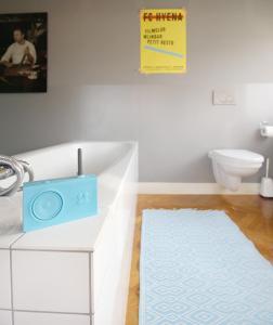 Een badkamer bij Cafe Modern