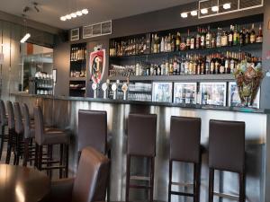 De lounge of bar bij Hotel Orchidee