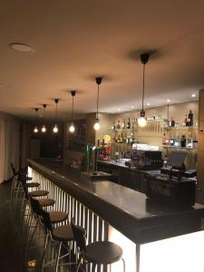 The lounge or bar area at Hotel Garden