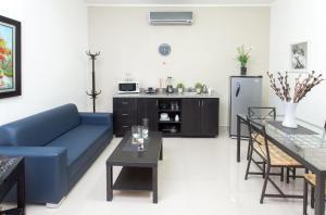 Ein Sitzbereich in der Unterkunft Hotel Residence Casa Reyes
