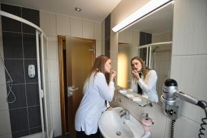 Koupelna v ubytování Hotel Vaka