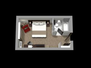 The floor plan of Country Inn & Suites by Radisson, Rochester-Pittsford/Brighton, NY