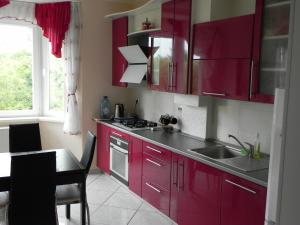 A kitchen or kitchenette at Apartment on Moskovskaya