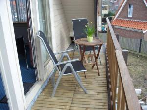 Een balkon of terras bij Appartementen Bergen aan Zee de Schelp