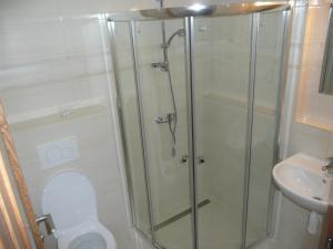 Koupelna v ubytování Hotel Fojtů