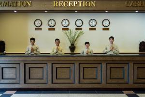 The lobby or reception area at Angkor Howard Hotel