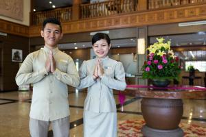 Staff members at Angkor Howard Hotel
