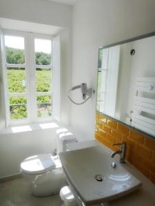 A bathroom at Les Terres de Saint Hilaire