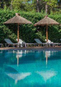 The swimming pool at or near Club Agia Anna