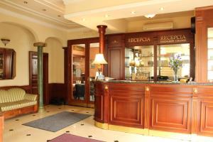 The lobby or reception area at Luxury Garni Hotel Brix