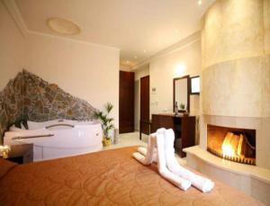 Krevet ili kreveti u jedinici u okviru objekta Hotel Athina