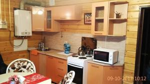 Кухня или мини-кухня в Апартаменты в Комплексе Белые Росы