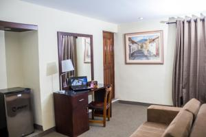 A television and/or entertainment center at Hotel Cajamarca