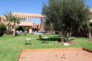 A garden outside Villa Firdaous