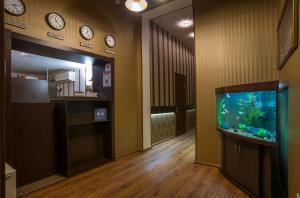A television and/or entertainment center at Soprano Apart Hotel