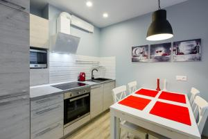 A kitchen or kitchenette at Provance Apartment