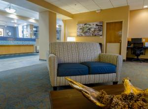 The lobby or reception area at GuestHouse Inn & Suites Anchorage Inn