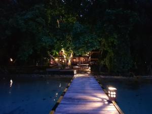The swimming pool at or near Raja Ampat Dive Resort