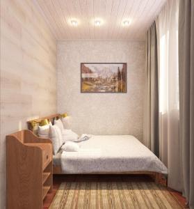 Кровать или кровати в номере Aquarius Hotel