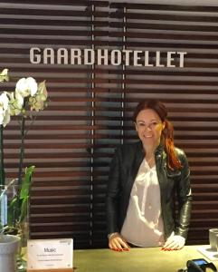 Lobbyen eller receptionen på Gaardhotellet