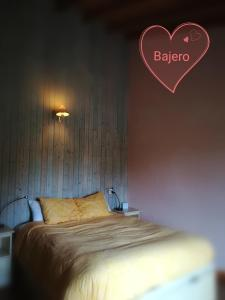 A bed or beds in a room at Eco Urbion